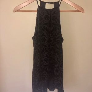 Francesca's Black Velvet Top (tags included)